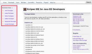 eclipse download version list